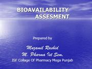Assesment of Bioavailibility  _Muzamil
