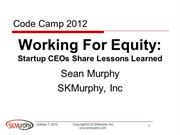 Working For Equity Panel at SVCC2012