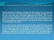 The importance of content in SEO for Dentists