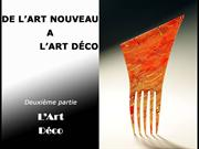 De l'art Nouveau  l'art Dco 2e partie