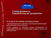 How to Write Proposals for Donor Funding