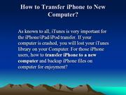How to Transfer iPhone to New Computer, Copy iPhone to a New Computer
