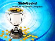 SPORTS TROPHY CUP AND COIN BUSINESS PPT TEMPLATE