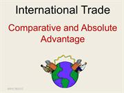 12_SSECO0301E International Trade Absolute and Comparative Advantage