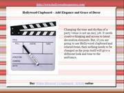 Hollywood Clapboard – Add Elegance and Grace of Decor