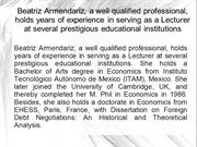 Beatriz Armendariz is the Founding Member of Grameen Credit Agricole M