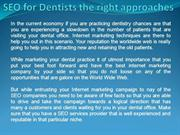 SEO for Dentists the right approaches