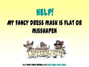 flat fancy dress masks