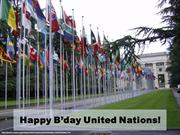 Happy B'day to United Nations!