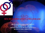 Sex Determination and Linkage[Yq-Rupendra Shrestha]