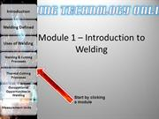 Module 1 – Introduction to Welding