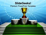 SPORTS TROPHY SIMPLICITY COMPETITION PPT TEMPLATE