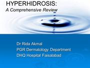 hyperhidrosis,a comprehensive view