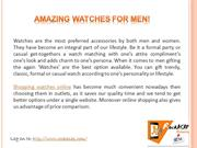 Amazing Watches for Men!