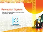 Perception System offering Incredible Magento Ecommerce Website Develo