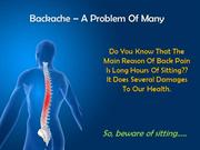 Backache And Other Perils Of Sitting And The Remedy