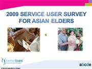 2009 Service User Survey