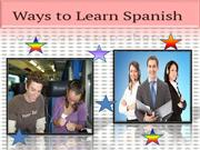 Ways to Learn Spanish