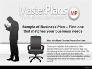 Sample of Business Plan – Find one that matches your business needs
