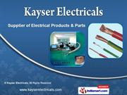 Electrical Products by Kayser Electricals, Chennai