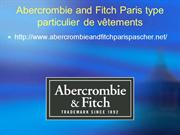 Abercrombie and Fitch Paris type particulier de vêtements