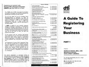 A GUIDE TO REGISTERING YOUR BUSINESS