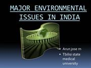 MAJOR ENVIRONMENTAL ISSUES IN INDIA  hygiene