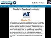 Moodle for Teachers Introduction