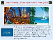 Top Honeymoon Destinations Countries and Capitals
