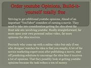 Order youtube Opinions, Build-it-yourself totally free
