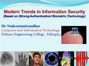 Modern Trends in Information Technology