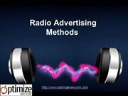 Radio Advertising Methods Your Business