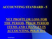 ACCOUNTING STANDARD-5