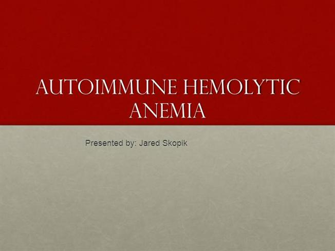 autoimmune hemolytic anemia |authorstream, Skeleton