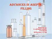 ADVANCES IN ASEPTIC FILLING new