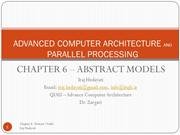 chapter 6 ADVANCED COMPUTER ARCHITECTURE AND PARALLEL PROCESSING