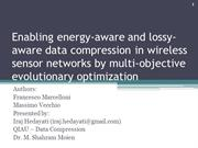 Enabling energy-aware and lossy-aware data compression in wireless