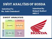 SWOT analysisof HONDA