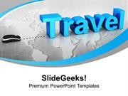 TRAVEL TRAVEL WITH MOUSE CONCEPT GLOBAL PPT TEMPLATE