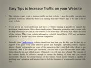 Easy Tips to Increase Traffic on your Website