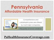 Pa Affordable Health Insurance