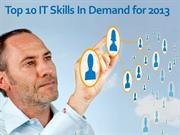 Top Ten Computer Skills In Demand in 2013