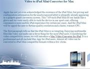 Best Video to iPad Mini Converter for Mac