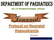 hypocalcemia in newborn
