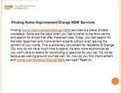 Home Improvement Orange NSW | Home Maintenance Orange NSW