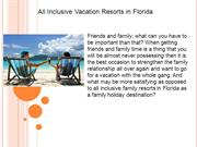 All Inclusive Vacation Resorts in Florida