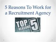Reasons for Recruitment Jobs - Job Search - Recruitment Agency