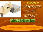 ORIGENES DEL LIBRO SAGRADO. I
