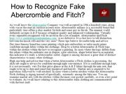 How to Recognize Fake Abercrombie and Fitch