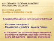 Educational management of teaching learning process